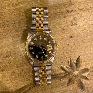 Authentic Rolex two tone 18K Gold 36mm.